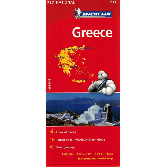 Michelin Greece Sheet Map 737 IBSN:9782067172067 Atlas, Altases, Map, Mapping, Locator map front cover