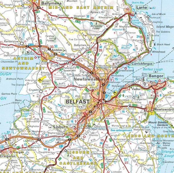 Map Of Ireland 32.Michelin Ireland Sheet Map 712