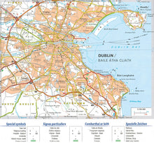 Load image into Gallery viewer, Michelin Ireland Sheet Map 712 IBSN:9782067170254 Atlas, Altases, Map, Mapping, Locator map dublin city map