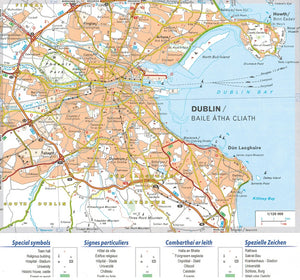 Michelin Ireland Sheet Map 712 IBSN:9782067170254 Atlas, Altases, Map, Mapping, Locator map dublin city map