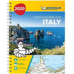 2020 Michelin Italy Spiralbound Road Atlas 9782067244511 front cover
