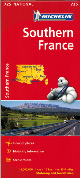 Michelin Southern France Sheet Map 725 IBSN:9782067200166 Atlas, Altases, Map, Mapping, Locator map