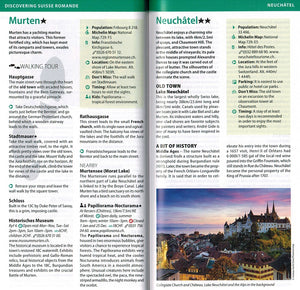Switzerland - Michelin Green Guide Switzerland 9782067229600 murten neuchatel