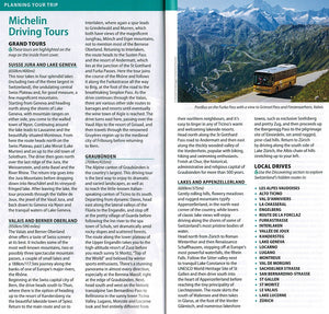 Switzerland - Michelin Green Guide Switzerland 9782067229600 michelin driving tours grand tours local drives