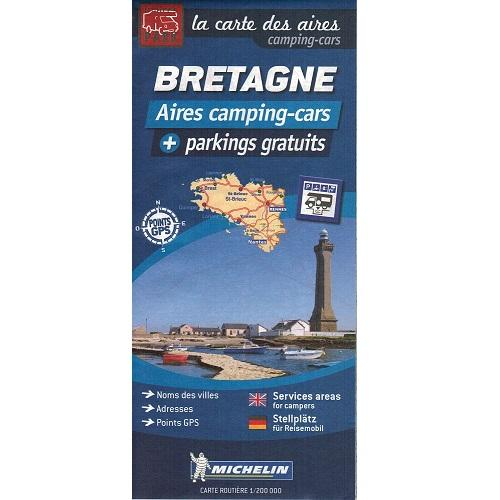 Carte Bretagne Camping.Michelin Trailer S Park Brittany Aires Map