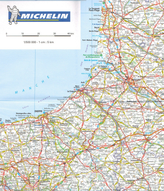 Map Of Northern France Belgium.Michelin Northeast France Sheet Map 707