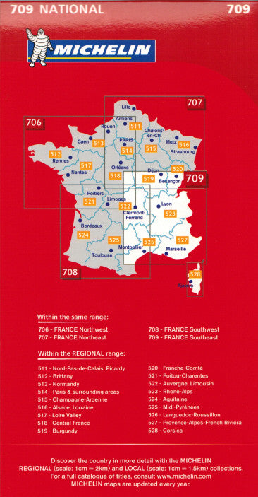 Michelin Southeast France Sheet Map 709