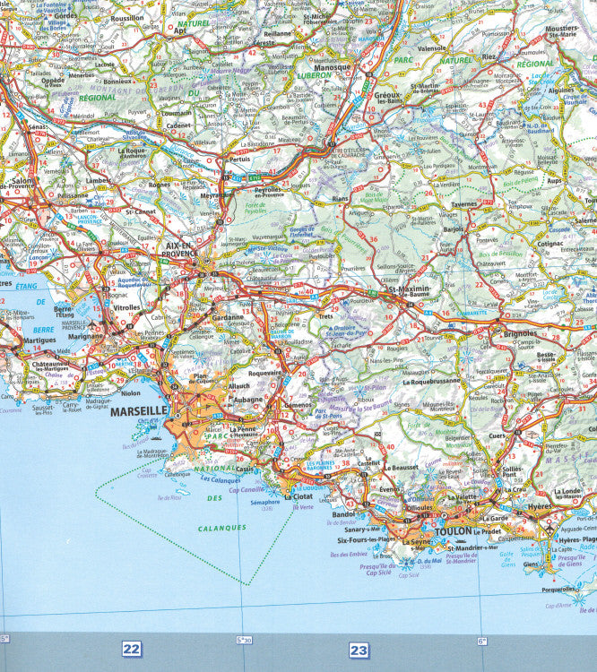 Map Of South East France.Michelin Southeast France Sheet Map 709