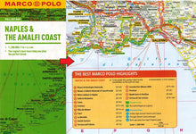 Load image into Gallery viewer, Marco Polo Naples & The Amalfi Coast Guide 9783829707336 locator map