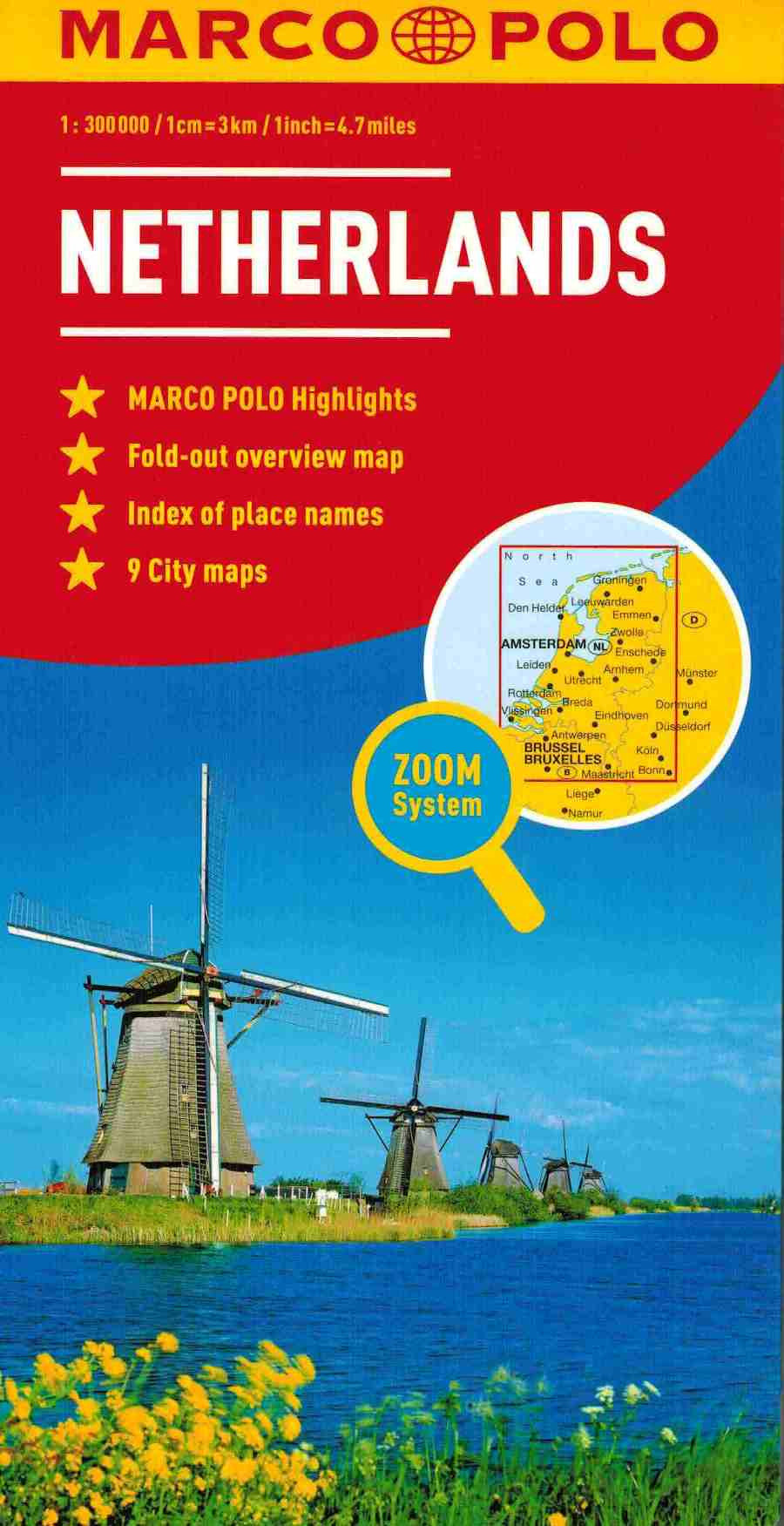 Marco Polo Netherlands sheet map ISBN: 9783829767149