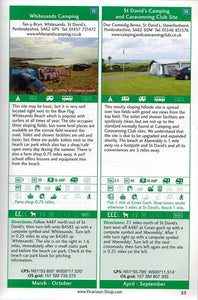 Sea View Camping Wales by vicarious media books united kingdom uk campsite guidebook entry information