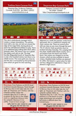 Sea View Camping West Country by vicarious media uk united kingdom campsite guidebook entry information 2