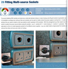 Self Build Campervan Conversions Renwicks Guides 9780992606534 fitting multi source sockets