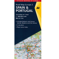 AA Spain & Portugal Sheet Map 2018 9787049579142 front cover