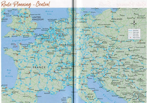 2020 Caravan and Motorhome Club Touring Europe 9781999323639 route planning map europe