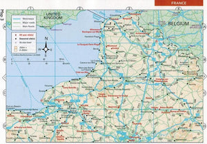 2020 Caravan and Motorhome Club Touring France 9780999323622 map preview france calais dover crossing