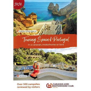 2020 Caravan and Motorhome Club Touring Spain and Portugal 9781999323646 front cover