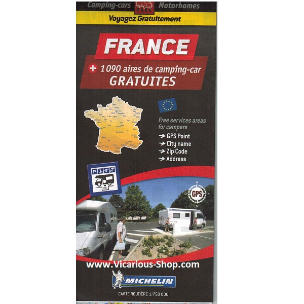 Michelin Trailer's Park France Aires Map
