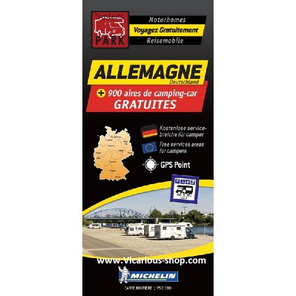 Trailers Park Germany Allemagne Aires Map by Michelin