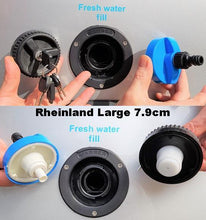 Load image into Gallery viewer, Rheinland Motorhome Water Filler Cap with Hose Connector 8715133038777
