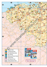 Load image into Gallery viewer, All the Aires Belgium, Luxembourg and the Netherlands IBSN:9781910661063 Vicarious Media Motorhome Guidebook, Motorhoming, Aires, Stopovers, Caravan, Caravanning entry map
