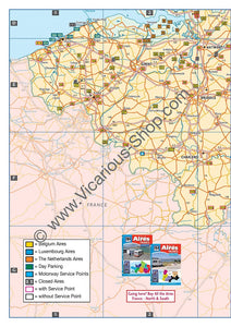 All the Aires Belgium, Luxembourg and the Netherlands IBSN:9781910661063 Vicarious Media Motorhome Guidebook, Motorhoming, Aires, Stopovers, Caravan, Caravanning entry map