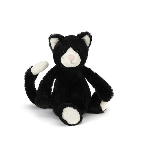 Jellycat - Bashful Black and White Kitten £14.95-Soft Toys-Jellycat-The Fabulous Gift Store