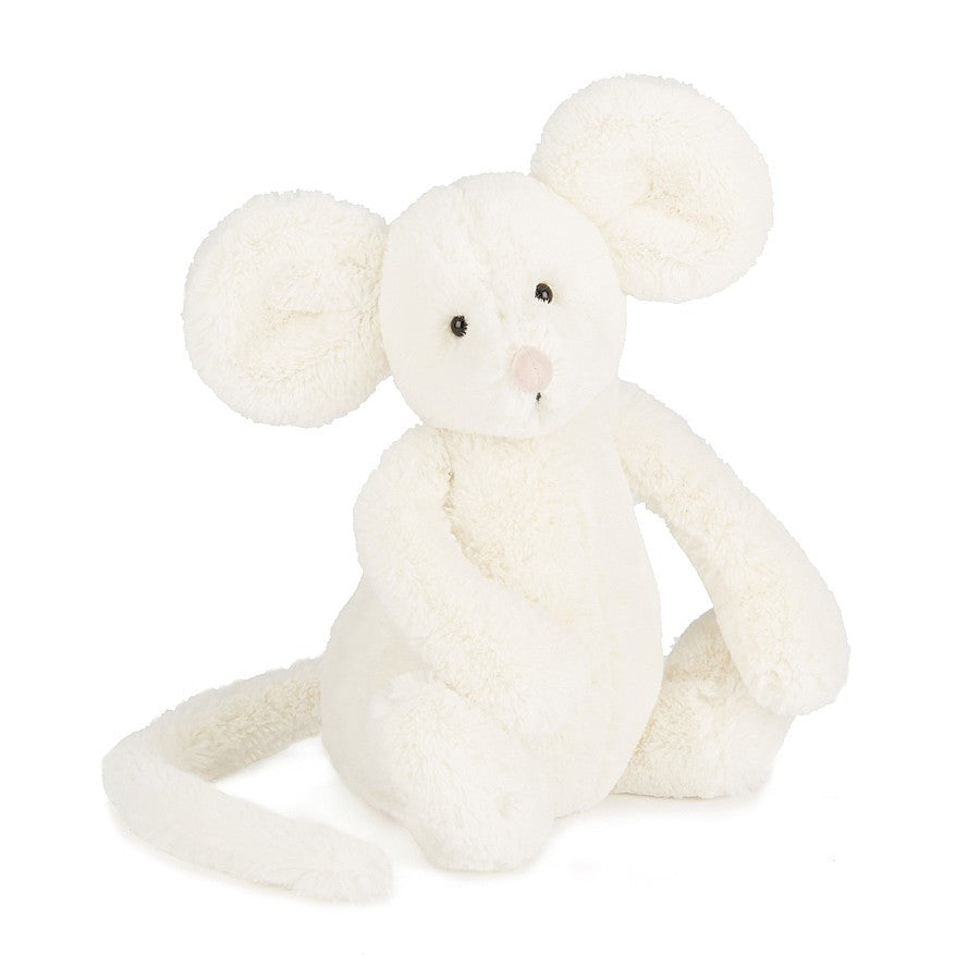 Jellycat - Bashful Cream Mouse (medium) £14.95-Soft Toys-Jellycat-The Fabulous Gift Store