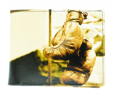 Golunski Retro Bi Folding Wallet - Boxing Gloves-Wallets-Golunski-The Fabulous Gift Store