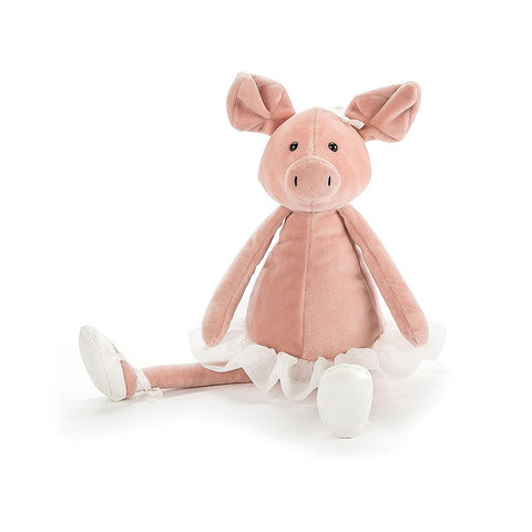 Jellycat - Dancing Darcey Piglet (medium) £14.75-Soft Toys-Jellycat-The Fabulous Gift Store