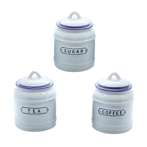 Gisela Graham - Vintage Tea, Coffee & Sugar Canister Set-Homewares-Gisela Graham-The Fabulous Gift Store