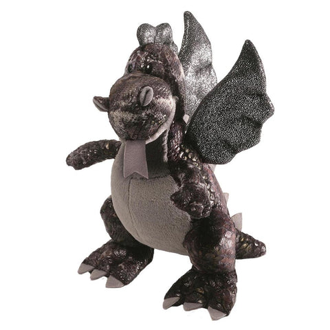 Gund - Sparx Black Dragon-Soft Toys-GUND-The Fabulous Gift Store