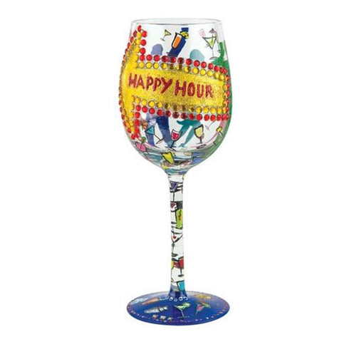 Lolita Wine Glass - Happy Hour-Glasses-Lolita Glasses-The Fabulous Gift Store