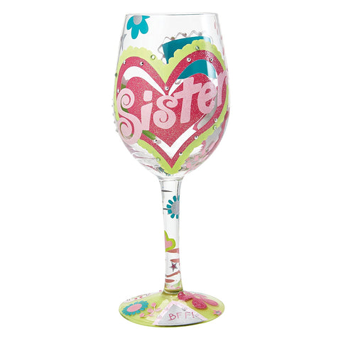 Lolita Wine Glass - 'Sister ...My BFF' - Brand New For 2017-Glasses-Lolita Glasses-The Fabulous Gift Store
