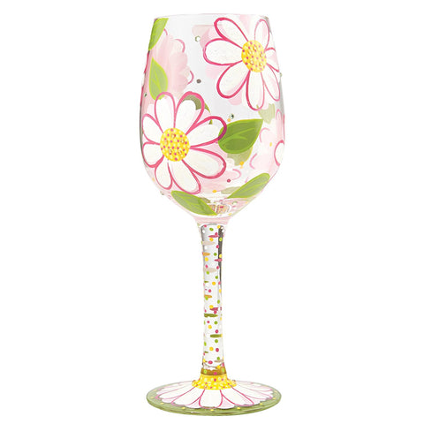 Lolita Wine Glass - 'Oops I Daisied Again' - Brand New For 2017-Glasses-Lolita Glasses-The Fabulous Gift Store