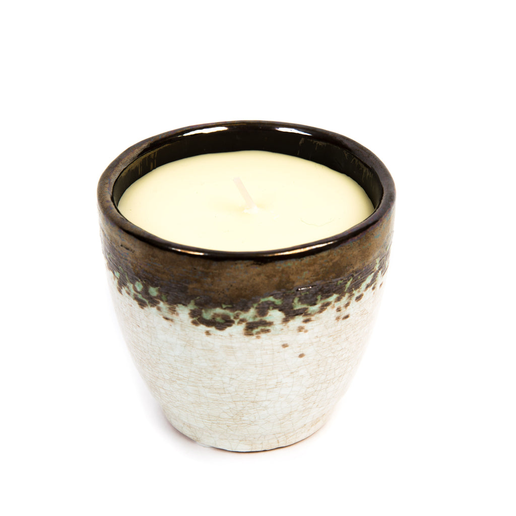 St Eval- Bay & Rosemary Scented Glazed Pot Candle