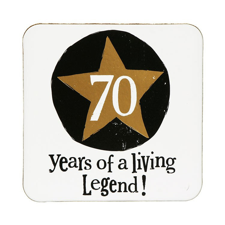 The Bright Side - 70 Living Legend Coaster