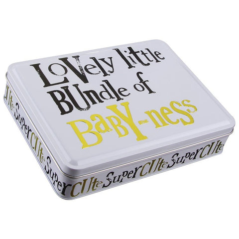 The Bright Side - Lovely Little Bundle Of Baby-Ness Baby Tin-Storage Tins-The Bright Side-The Fabulous Gift Store