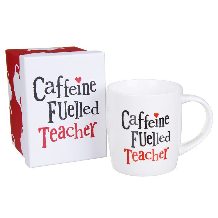The Bright Side - Caffeine Fuelled Teacher Mug-Homewares-The Bright Side-The Fabulous Gift Store