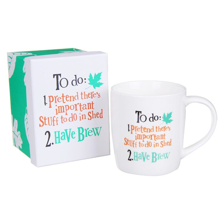 The Bright Side - Important Stuff To Do In Shed Mug