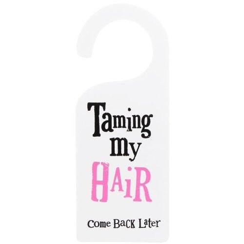 The Bright Side - Taming My Hair Door Hanger-Signs-The Bright Side-The Fabulous Gift Store