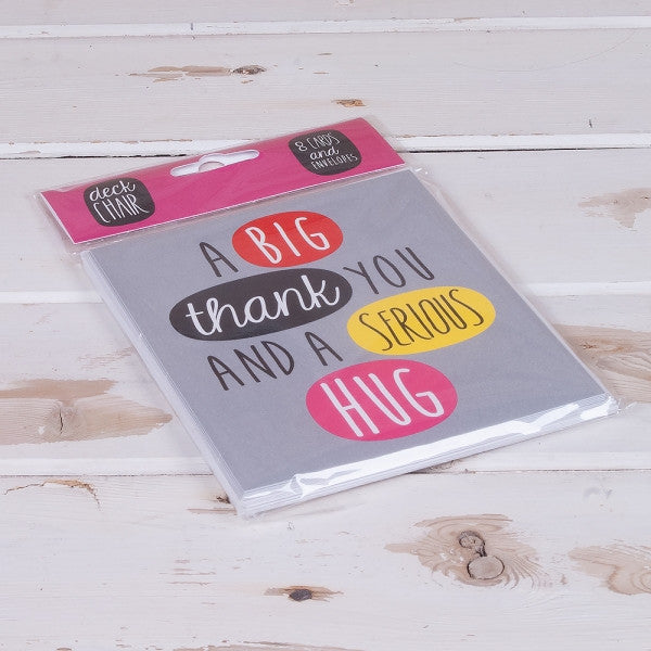 Deck Chair - 'A Big Thank You And A Serious Hug' 8 Card Pack-Homewares-Really Good-The Fabulous Gift Store