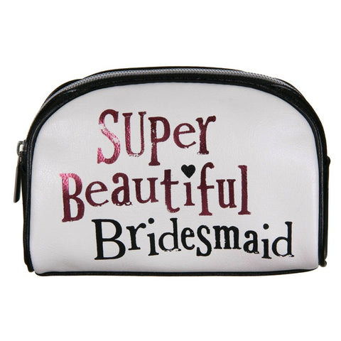 The Bright Side - 'Super Beautiful Bridesmaid' Cosmetic Case-Homewares-The Bright Side-The Fabulous Gift Store