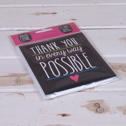 Deck Chair - 'Thank You In Every Possible Way' 8 Card Pack