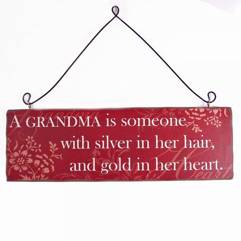Heaven Sends - 'A Grandma Is Someone With ...' Large Wood Sign-Signs-Heaven Sends-The Fabulous Gift Store