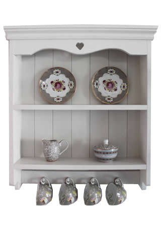 Handmade - Shaker Style Wall Shelf Unit - White