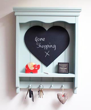 Handmade - Shelf Unit With Chalkboard - Pale Blue-Homewares-The Fabulous Gift Store-The Fabulous Gift Store