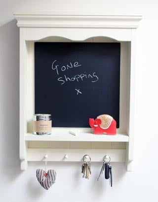Handmade - Shelf Unit With Chalkboard - Cream