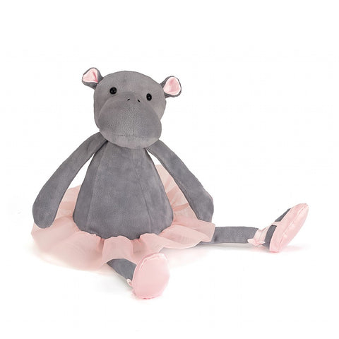 Jellycat - Dancing Darcey Hippo (medium) £14.75-Soft Toys-Jellycat-The Fabulous Gift Store