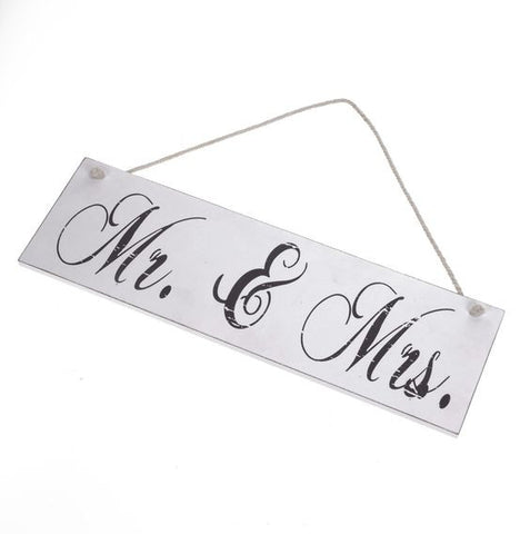 Heaven Sends - 'Mr & Mrs' Wooden Plaque-Signs-Heaven Sends-The Fabulous Gift Store